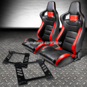 Black red Pvc Leather Sports Style Racing Seats bracket for 07 14 Jeep Wrangler