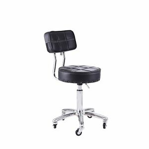 Work Shop Stool Bench Mechanics Chair Swivel Rolling Drafting Adjustable Seat