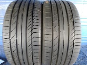 2 Continental Sport Contact 5 Ssr Rft 255 40 18 Bmw With 8 32nd Tread Left 95 Y