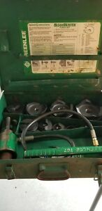 Greenlee 7310sb Hydraulic Knockout Punch Set Used
