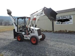 2005 Bobcat B250 Compact Backhoe Loader Kubota Diesel 4x4 All Wheel Steer Turbo