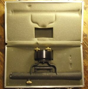 Berger Instruments Model 1h Transit Level Vintage Made In Usa With Case