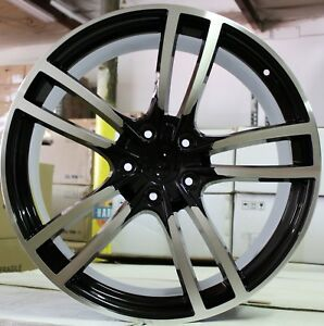 21 Inch Rims Fit Porsche Cayenne Turbo S Gts Base New Turbo 2 Black Wheels