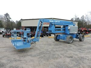 2012 Genie Z60 34 Articulating Boom Lift Generator Low Hour Machine