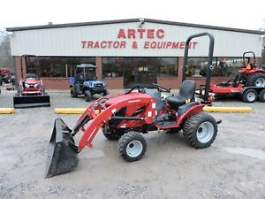 2016 Mahindra Emax 22 4wd Tractor With Loader Low Hours Good Condition