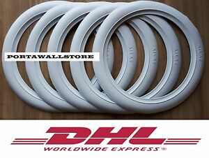 Original Atlas 16 White Wall Tyre Insert Trim Port A Wall Set Of 5