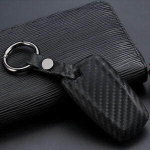 Remote Car Key Case Cover Shell Carbon Fiber Look Protector For Bmw 3 5 Series