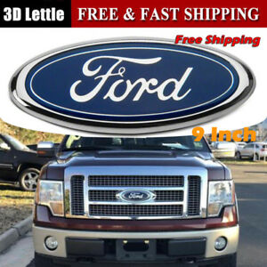 New 9 Inch 2004 2014 Ford F 150 Blue Oval Front Grille Or Rear Tailgate Emblem