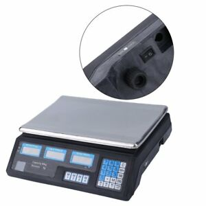 Electronic Digital Weight 88lb Price Computing Food Meat Kitchen Scale Us