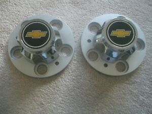 2 Chevy Chevrolet Truck Van 15 Inch 15x8 15x7 Rally Wheel Center Hub Caps 5 Lugs