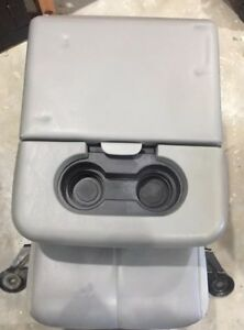 99 12 Ford F250 F350 Super Duty Leather Center Console Jump Seat Gray Oem 2000