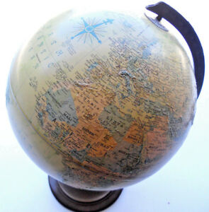 Vintage Replogle 12 World Globe Electric Lighted With Full Rotational Base