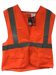 Orange Safety Vest Large High Visibility Class Ii Ansi case Of 50