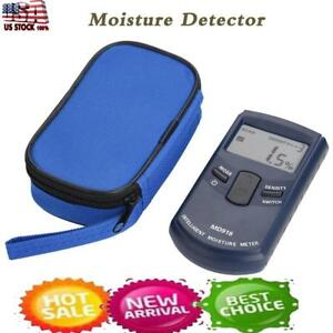 New Digital Inductive Lcd Wood Timber Moisture Meter Temperature Humidity Tester