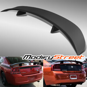 Factory Style Primed Black Abs Rear Trunk Spoiler Wing For 06 10 Dodge Charger