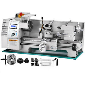 8 x16 Mini Metal Lathe Variable speed 0 2250rpm 750w Benchtop Digital Display