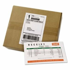 Avery Shipping Labels With Paper Receipt Bulk Pack White 100 Labels ave27900