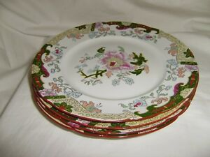 4 Antique Rare Ashworth Brothers Hanley 9 3 4 Inch Dinner Plates 8876