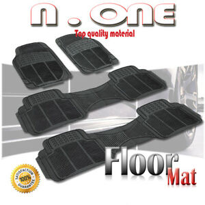 All Season Black Front rear Rubber Car Floor Mats 4pcs Chevrolet