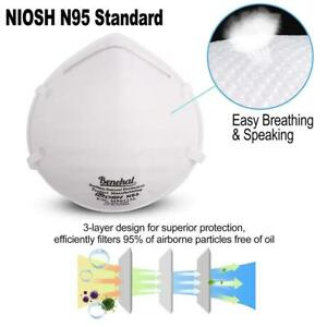 200pcs N95 Particulate Respirator Mask Surgical Flu Dust Pollution Haze Pm2 5
