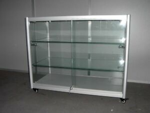 Glass Countertop Display Case Store Fixture Showcase With Front Lock sc kdtop