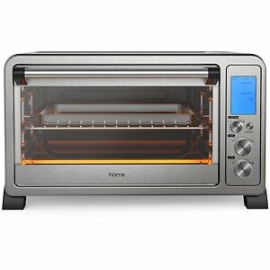 Homelabs 6 Slice Convection Oven toaster Stainless Steel Countertop 10 Functions