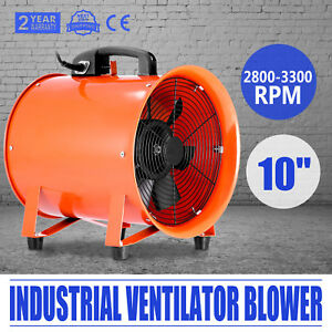 10 Inch Industrial Extractor Exhaust Fan Blower Chemical Underground Ventilator