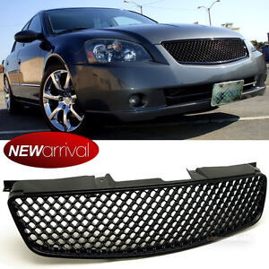 Fit 05 06 Nissan Altima Honeycomb Style Badgeless Bumper Hood Vip 3d Mesh Grille