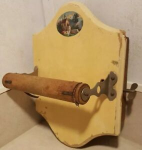 Antique Toilet Paper Holder Tp Vtg Music Box Primitive French Dutch