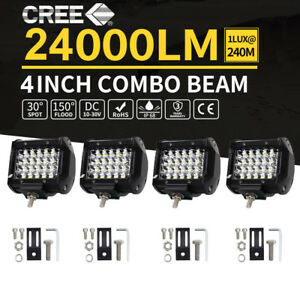 4 Inch 480w Led Work Light Bar Spot Combo Pods Driving Off road Tractor Ute 12v