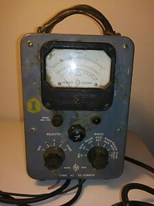 Hewlett Packard Model Hp 410b Vintage Volt Ohm Meter Ac Dc Used By Us Navy