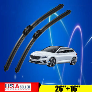 26 16 J Hook Windshield Wiper Blades Premium Hybrid Silicone High Quality Us