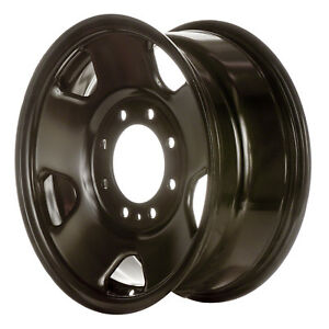 17 2005 2010 Ford Superduty Steel Wheel Black Full Face Painted