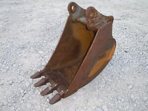 Tag Backhoe Attachment Used 18 Tooth Trench Bucket Ship 149
