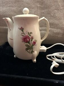 Vintage Japan Floral Teapot Ceramic China 4 Cup Electric Hot Water Heater