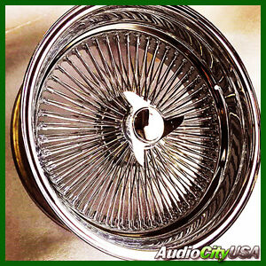 20x8 Wire Wheel Deep Dish Reverse All Chrome