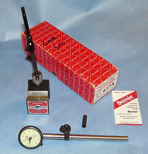 Starrett 657a magnetic Base Indicator Holder in Box W Federal 001 Gage