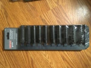 Craftsman Evolv 10 Pc Deep Impact Socket Set 1 2 inch Drive Mm metric