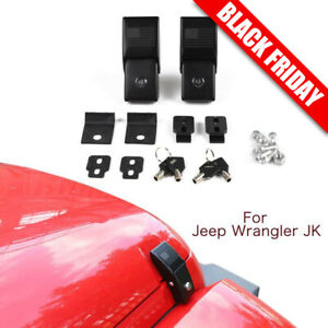 Stainless Hood Latches Hood Lock Catch Latches Fit 2007 2018 Jeep Wrangler Jk Jl