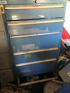 Used Lista 6 Drawer Cabinet Industrial Tool Storage Vidmar