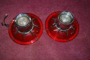 1964 Ford Galaxie 500 Xl Set 2 Tail Light Lenses Nice Used Originals