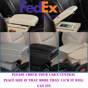 Upgrade Style Black Car Central Container Armrest Box Content Box Cup Holder