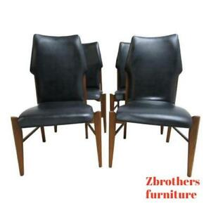 4 Lane Scandia Commander Dining Room Side Chairs Mid Century