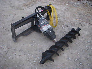 Bobcat Skid Steer Attachment Danuser Ep 10 Hex Auger With 9 Bit Ship 199