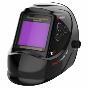 True Color Wide View Screen Solar Power Auto Darkening Welding Helmet Weld Mask