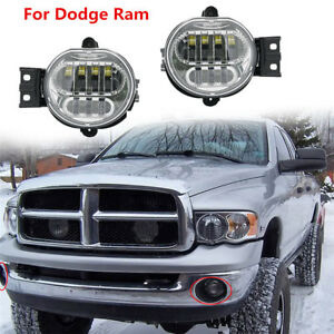 2 Pcs Front Bumper Led Fog Light Lamp For Dodge Ram 1500 2500 3500 2002 2008