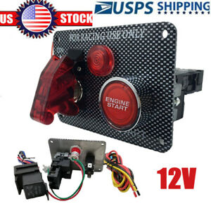 12v Racing Car Ignition Switch Panel Engine Start Aircraft Kit With Relay Us
