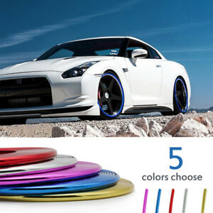 8m Tire Guard Sticker Rubber Strip Car Wheel Hub Rim Edge Protector Ring 5colors