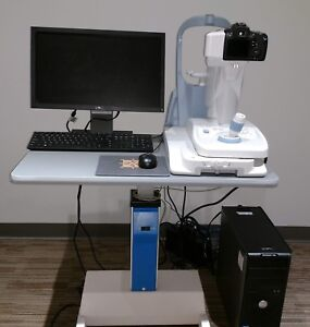 Canon Cr 2 Retinal Fundus Camera With Computer Software Table And Cover