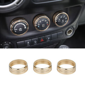 Air Conditoning Button Cover Decor Twist Switch Ring Trim For Jeep Wrangler Jk